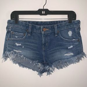 BDG Low Rise Dolphin Shorts, Distressed Shorts 26